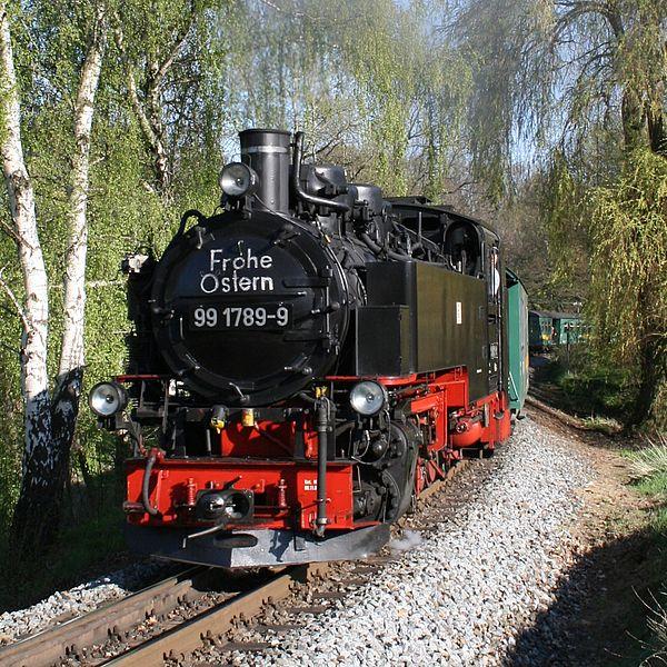 Osterhasenexpress mit der Lößnitzgrundbahn