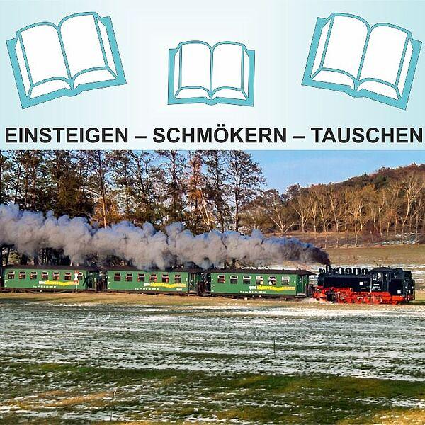 Fahrende Tauschbibliothek bei der Lößnitzgrundbahn